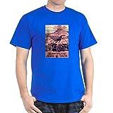 CafePress 1930S T-shirt national en coton Motif Grand Canyon - Bleu - Medium