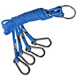 SF 4 Arm Crab Trap Harness Stainless with Heavy Duty Metal Hooks for Sailing Fishing # Blue 1 Pack