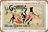 La Gomme Paris Felicien Champsaur En Vente Chez Tous Les Libraires - Placa decorativa de hierro de 20 x 30 cm, para decoración de hogar, cocina, baño, granja, jardín, garaje, citas inspiradoras