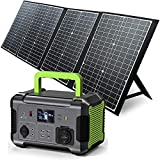 PAXCESS Portable Power Station with Solar Panel Included, 519Wh Solar Generator with 120W 18V Foldable Solar Panel, MPPT, 12V Regulated Power Supply, 110V Pure Sine Wave AC Outlet, CPAP Backup Lithium Battery for Outdoor Camping RV Emergency Home Use