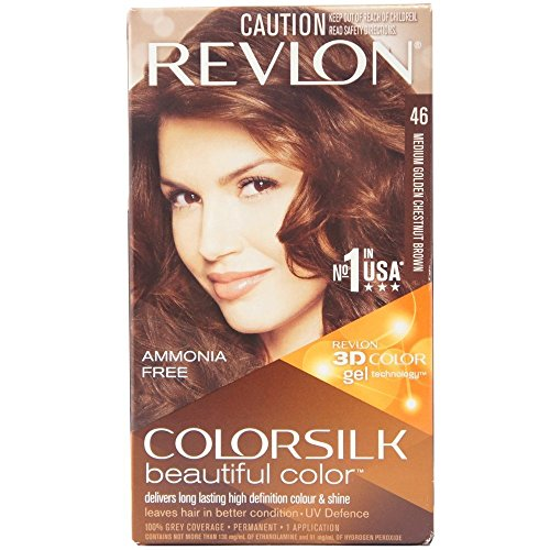Revlon Colorsilk Beautiful Color, Medium Golden Chestnut Brown [46] 1 ea