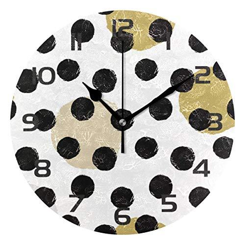 Meili Shop Reloj de Pared Decorativo de Lunares Relojes Redondos Decoración de Arte Dormitorio Sala de Estar Cocina Baño Oficina Oficina Escuela