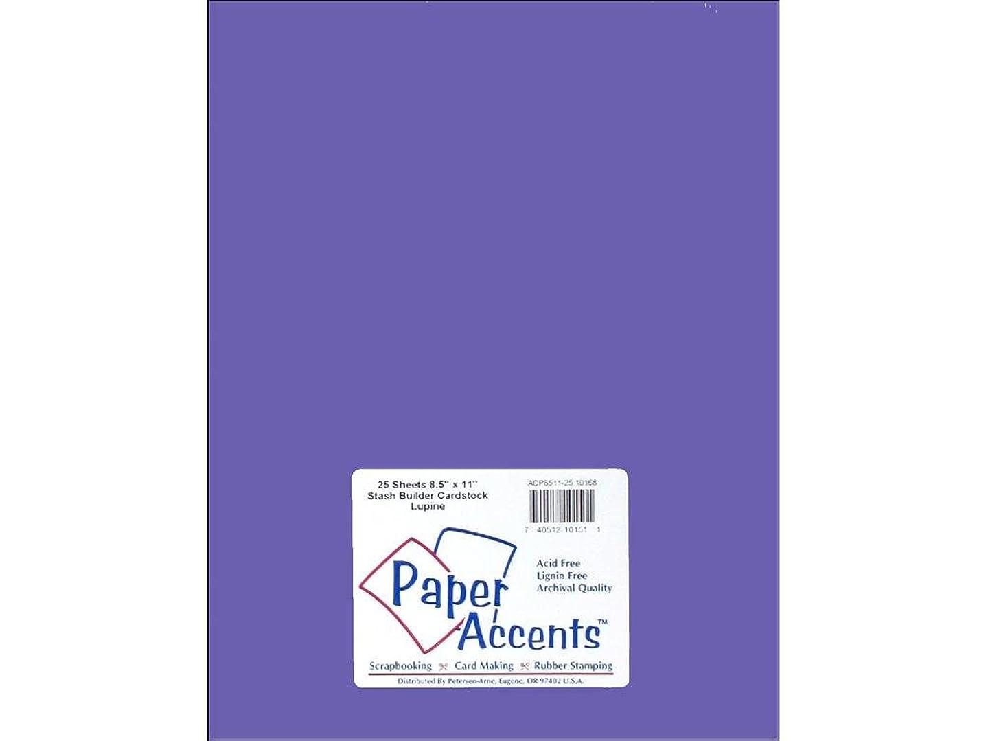 Accent Design Paper Accents StashBuilder8.5x11Lupine Cdstk Stash Builder 8.5x11 60# Lupine