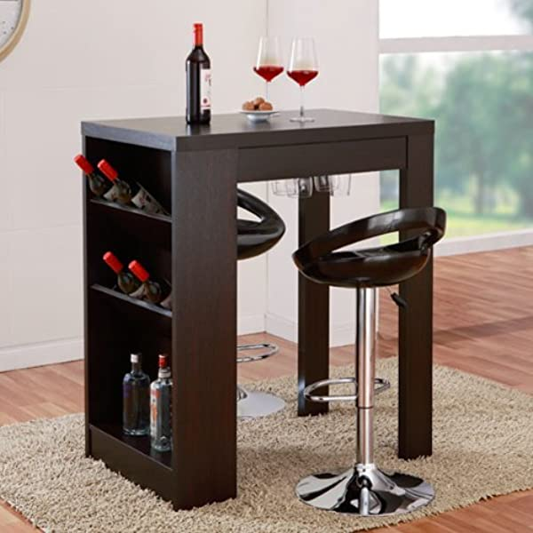 24 7 Shop At Home IDI 13607 Sadler Bar Table Cappuccino