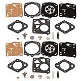 Mtanlo 2 pièce Kit de Réparation de Carburateur pour Tillotson RK-23HS RK-17HS Husqvarna 61 266 268 272XP 281 181 Jonsered 625...