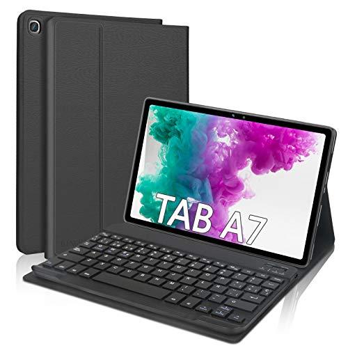 DINGRICH Funda Teclado para Samsung Galaxy Tab A7 10.4' 2020, Español Ñ Teclado Bluetooth Inalámbrico Extraíble Magnético para Samsung Galaxy Tab A7 10.4 T500/T505/T507 2020 Tablet Negro