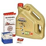 Castrol 10W-40 Öl + Mahle Ölfilter für Yamaha YZF-R1 /SP, 02-06, RN09 RN12 - Ölwechselset inkl. Motoröl, Filter, Dichtring