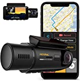 Rexing V3 Dual Camera Front and Inside Cabin Infrared Night Vision Full HD 1080p WiFi Car Taxi Dash Cam with Built-in...