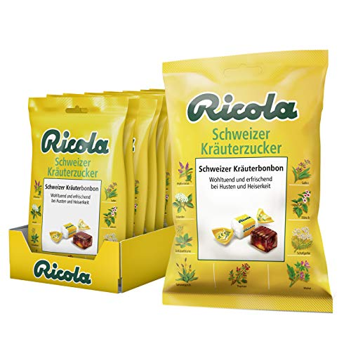 Ricola Kräuterzucker, Schweizer Kräuterbonbon, 16er Pack (16 x 75g)
