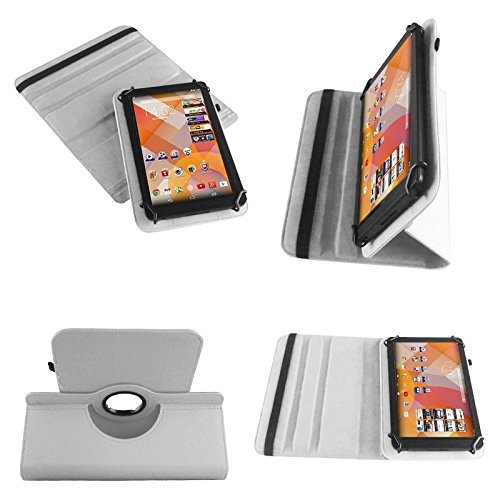 NAUC Tasche Hülle für Blaupunkt Endeavour 101M 101L Tablet Schutzhülle Hülle Tab Cover, Farben:Weiss