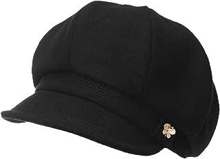 Womens Newsboy Cap Soft Satin Lined Visor Beret Cabbie Cap