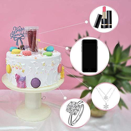 Bestevery TortenstäNder,üBerraschungsstand Popping Cake Stand 2In1 üBerraschungsstand,Popping Cupcake ständer Alles Gute Zum Geburtstag Kuchenhalter
