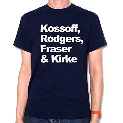 Old Skool Hooligans A Tribute to Free T Shirt - Kossoff, Rodgers, Fraser & Kirke Blue