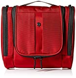 Victorinox Hanging Toiletry Kit, Red/Black Logo, 1 Count (Pack of 1)