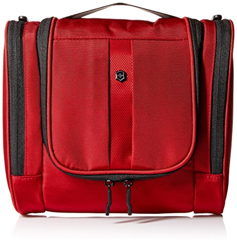 Victorinox Hanging Toiletry Kit, Red/Black Logo, One Size