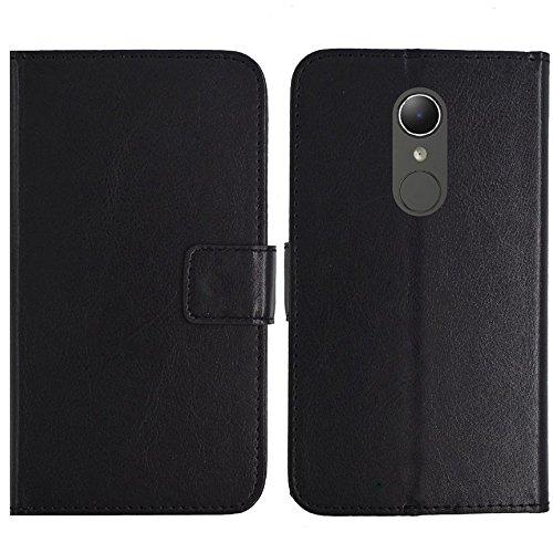 TienJueShi Schwarz Flip Book-Style Brief Leder Tasche Schutz Hulle Handy Case Abdeckung Fall Wallet Cover Etui Skin Fur HP Elite x3 5.96 inch