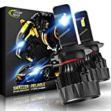 Best H7 Bulbs - Cougar Motor X-Small H7 LED Headlight Bulb, 10000Lm Review