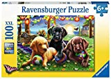 Ravensburger Puppy Picnic 100 Piece Jigsaw Puzzle with Extra Large Pieces For Kids Age 6 Years and Up