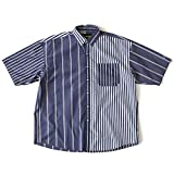 FAT Billostripe Shirt(エフエーティー ストライプシャツ) (SKINNY, ネイビー)