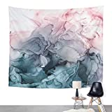 ArtSocket Tapestry Blush and Payne Grey Flowing Abstract Home Decor Wall Art Hanging for Living Room Bedroom Dorm 60 x 80 Inches Tapestry