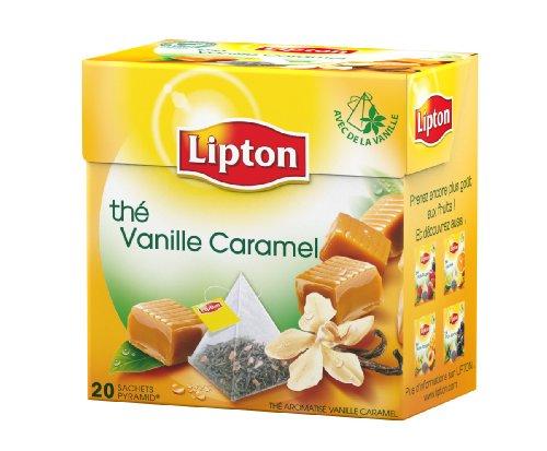 Lipton Lipton the Schwarz vanilla caramel 20 taschen - set von 3