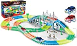 17Tek 360 Pieces Magical Glow in the Dark Tracks Toy Set Amazing Flexible Bendable Racetracks with 2 LED Light Up Cars