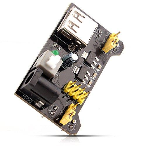 Neuftech® Módulo de alimentación Power Breadboard Compatible 5V 3,3V para MB102 protoboard Arduino