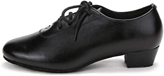 Inlefen Boys Dance Shoes Leather Latin Tango Salsa Party Prom Shoes for Men