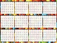 SwiftGlimpse 2021 壁掛けカレンダー 24インチ x 36インチ デザイナーシリーズ Lサイズ 消せる 年間壁掛けプランナー (キャンディ)