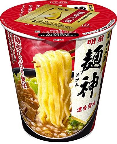 明星 麺神カップ 濃香醤油 100g×12個