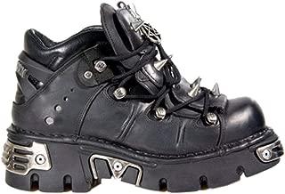 New Rock Newrock 110 Black Leather Stud Goth Biker Boots