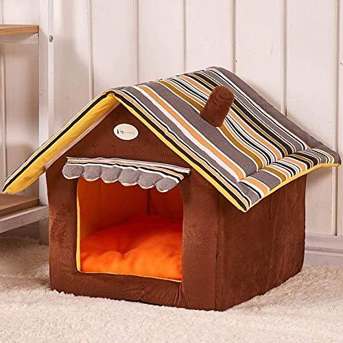 Ecent Nicchia per gatti cani con cuscino rimovibile Cuccia a casa gatti cane da interno