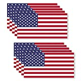 10 Pack USA American Flag Vinyl Decal Army Navy Tactical Military Country Weather-Resistant Bumper Stickers for Laptop, PC, Phone, Tablet, Baret, Helmet, Hat, Umbrella (1'x2')