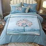 Bedclothes-Blanket Funda nórdica Funda de Colcha,Caso 3D Flor estéreo Flor de Cama de Cuatro Piezas-mi_1,8 m la Cama se Establece 200 * 230 cm