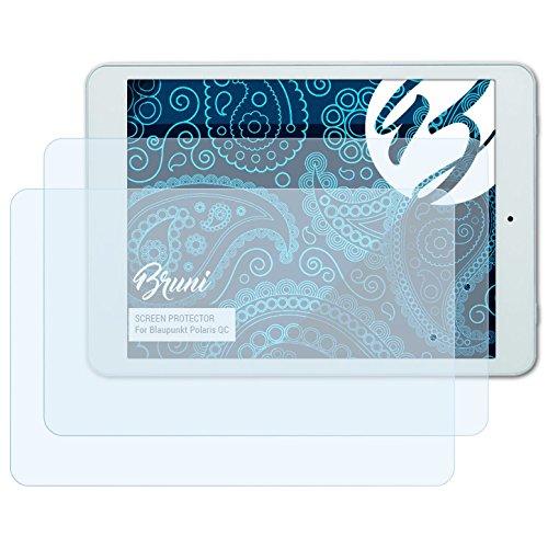 Bruni Schutzfolie kompatibel mit Blaupunkt Polaris QC Folie, glasklare Bildschirmschutzfolie (2X)