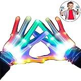 LED blinkende bunte Finger Gloves, Coole Spielzeuge Handschuhe mit LED, lustige Handschuhe als Geschenke zu Weihnachten Geburtstag und Karneval für Kinder Mädchen Junge - Beste Geschenke -