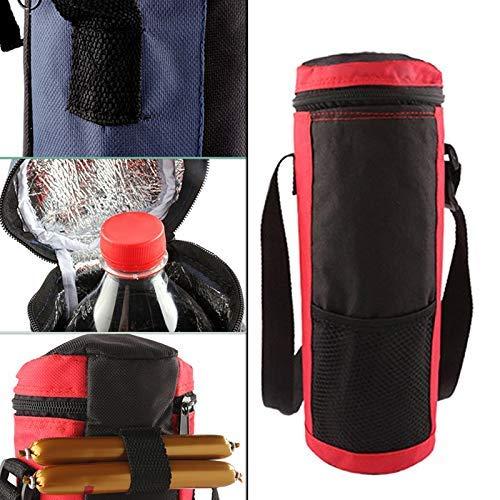 Cutito Isoliert Flasche Kühltasche, Wasserflasche Kühler Halter Träger Tragetasche Abdeckung Beutel für Reise - Blau