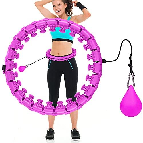 Comius Sharp 24 Sections Hula Fitness Hoop Cerceaux de Hula Fitness pour des Exercices de Fitness Cerceau de Fitness, Hula Fitness Hoop Artefact Fitness pour Adultes et Aux Enfants, Fitness (Violet)
