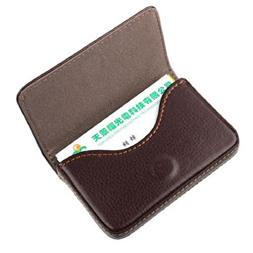 Kolylong® Credit Card Holder PU Leder Magnetic Geschäfts card Case Kasten Halter (Kaffee)