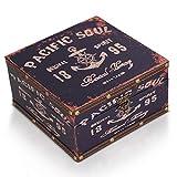 Brynnberg Caja de Madera 20x20x11cm - Cofre del Tesoro Pirata de Estilo Vintage - Hecha a Mano - Diseño Retro - joyero