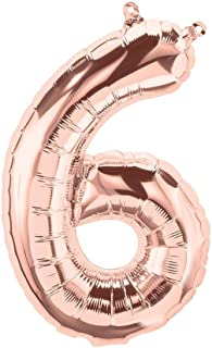 بالونات باللون الذهبي الوردي على شكل ارقام لتزيين الحفلات، مصنوعة من الرقائق المعدنية ومناسبة لاعياد الميلاد وحفلات الزفاف...