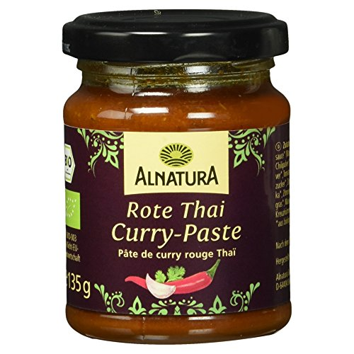 Alnatura Bio Rote Thai-Curry-Paste, 6er Pack (6 x 135 g)