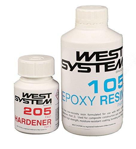 WEST SYSTEM Epoxidharz Junior Pack Pack 105-206, langsamer Härter Harz
