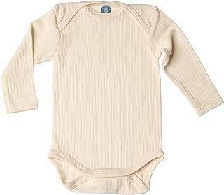 /Baby Body a manica corta 35/% lana merino organica 20/% seta Cosilana/ 45/% in cotone biologico
