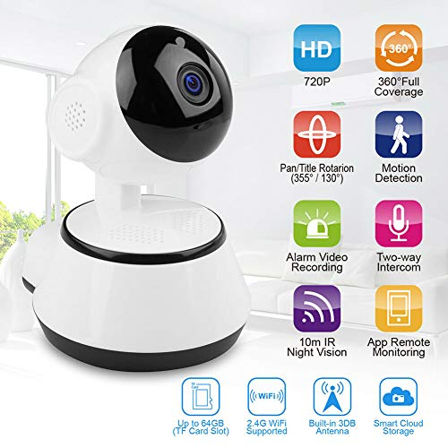Xzan Wireless HD 720P Security IP Camera IR Night Vision WiFi Webcam for Home Baby