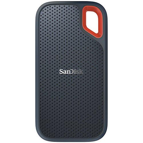 SanDisk Old Version Portable SSD externe SSD 2 TB (Old Version Festplatte mit SSD Technologie 2,5 Zoll, 550 MB/s Übertragungsraten, stoßfest, AES-Verschlüsselung, wasser- und staubfest) grau