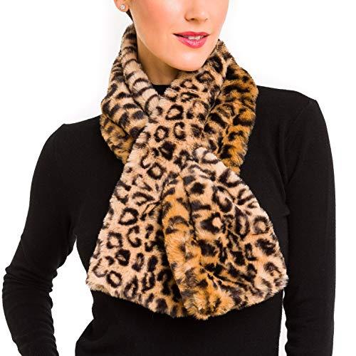 Fur Collar Scarf for Women Faux Fur Scarves Neck Shrug for Winter Coat Dress (FC03-LP)
