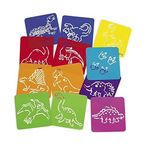 Dinosaurier Schablonen 12 Stück Dino Party Zeichenschablone Mitgebsel Palandi®