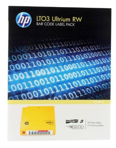 BARCODE LABELS HP LTO3 ULTRIUM Q2007A