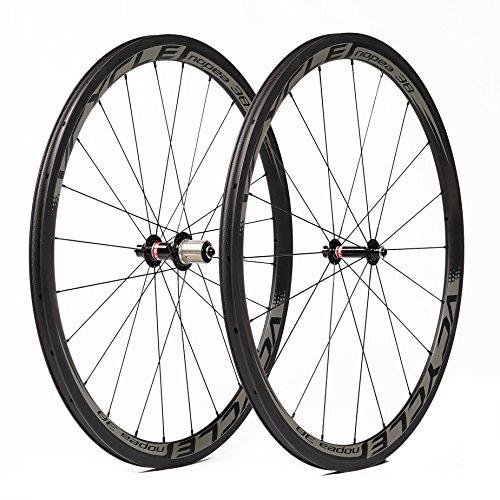 VCYCLE Nopea 700C Bicicleta de Carretera Juego de Ruedas Carbono Remachador 38mm Shimano o Sram 8/9/10/11 Velocidad